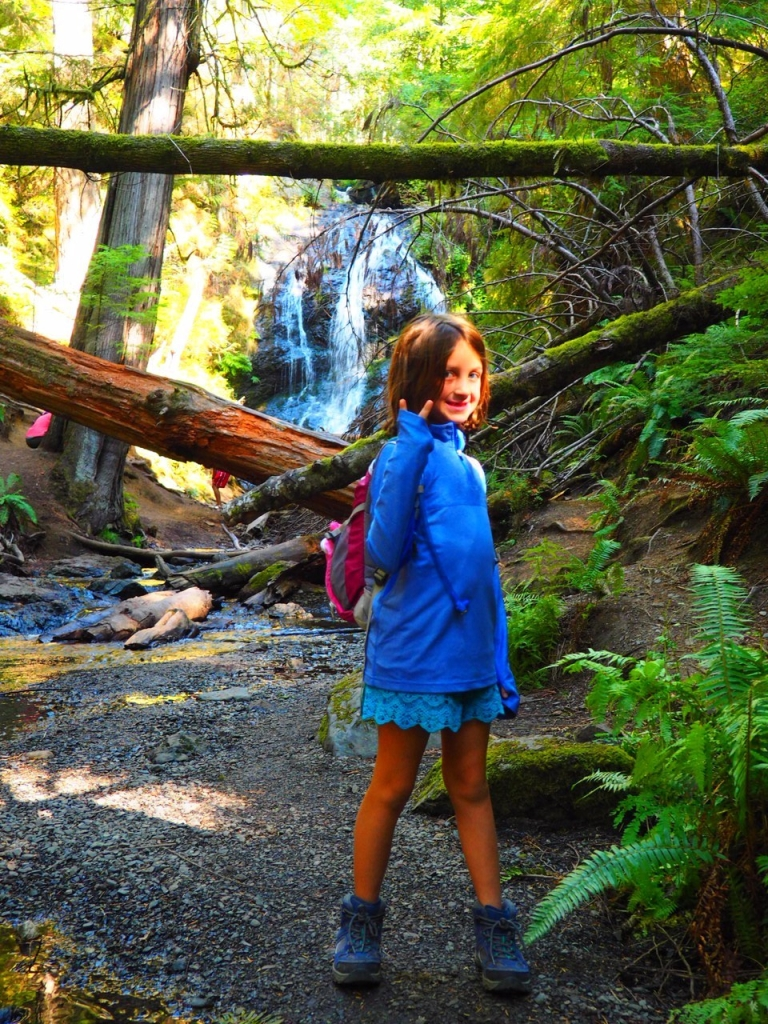 Liv at waterfall on Orcas
